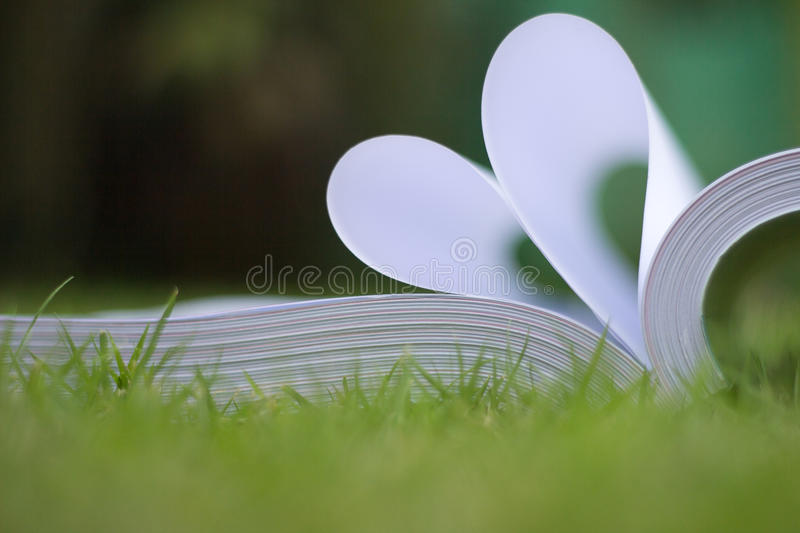 Download Book Curved A Heart Shape Stock Photo - Image: 83720559