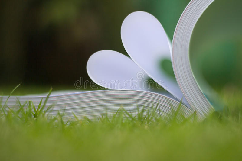 Download Book curved a heart shape stock photo. Image of blur - 83720658