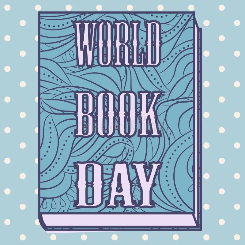 Book day vintage vector illustration