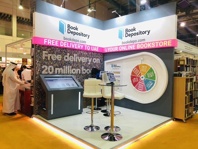 Book Depository Pavilion at Sharjah International Book Fair stock photo