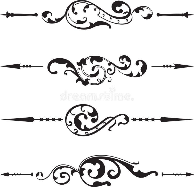 Book divide set vector illustration
