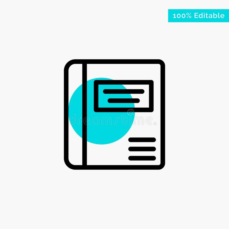 Book, Education, Medical Book, Medical turquoise highlight circle point Vector icon stock illustration