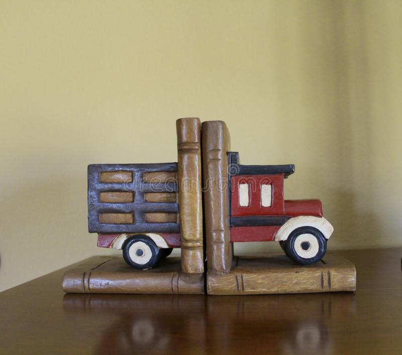 Book ends truck stock images