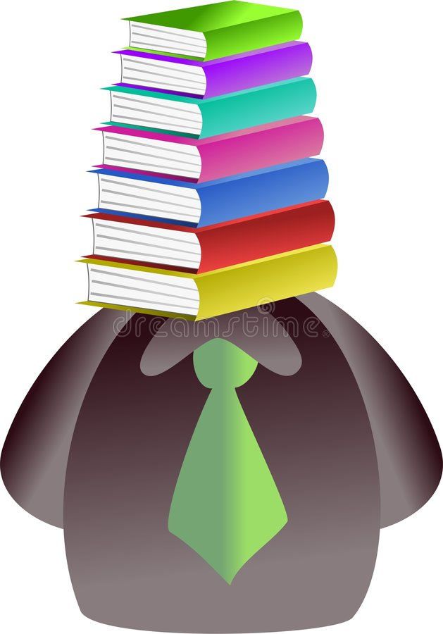 Book face royalty free illustration