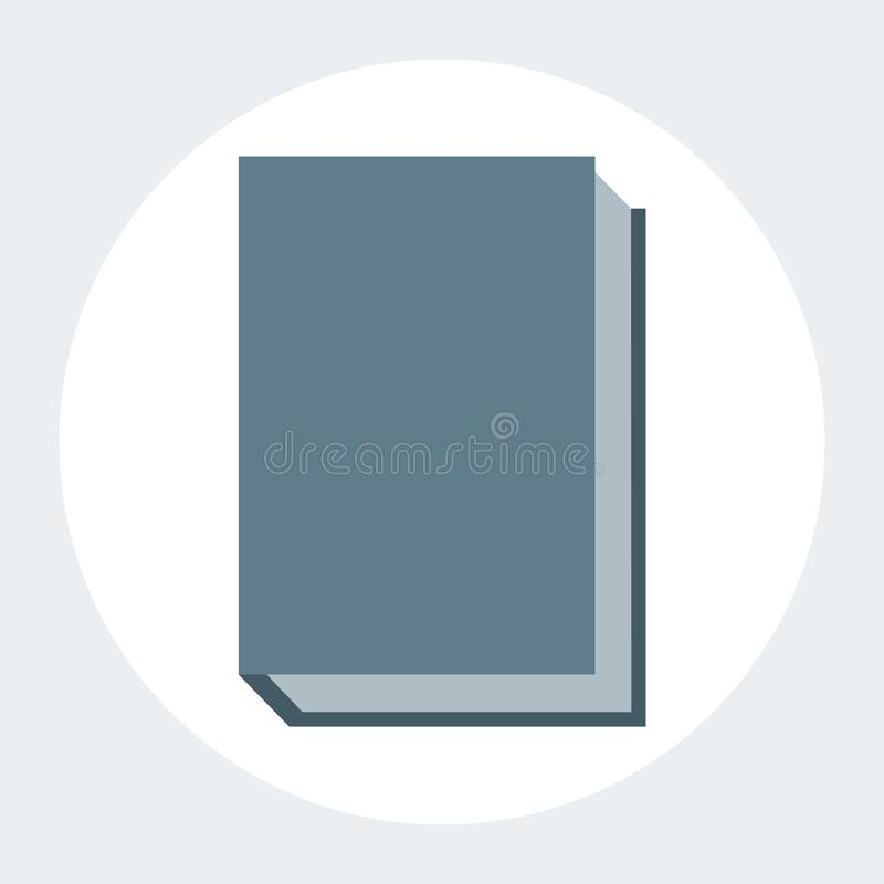 book in flat design colours grey background stock illustration