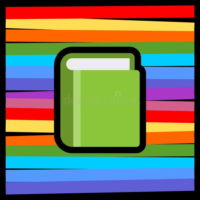 Book in flat style icon isolated on colored background royalty free illustration