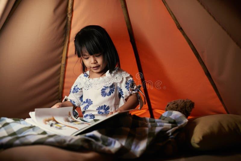 book flickaavläsning royaltyfria foton