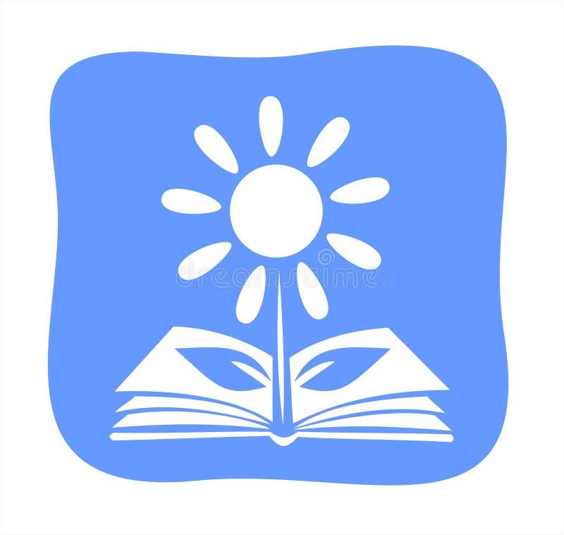 Book-flower stock illustration