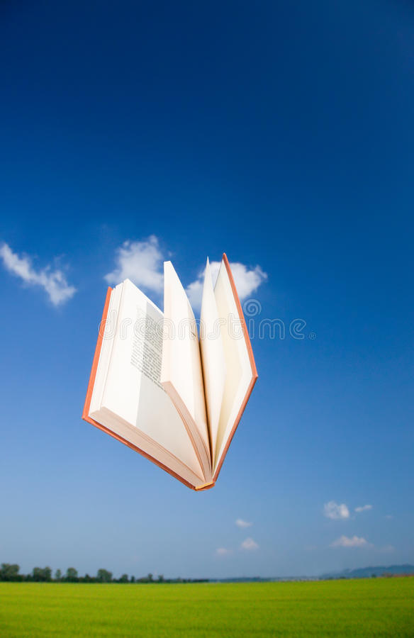 Download Book flying in the sky stock photo. Image of knowledge - 10018624
