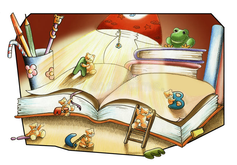 The book of the friendship royalty free illustration