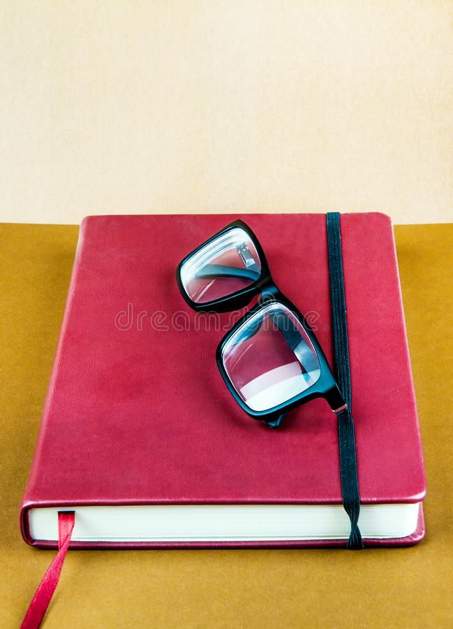 Book with a Glasses royalty free stock image