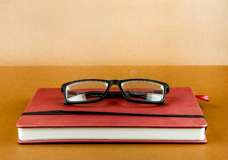 Book with a Glasses stock photo