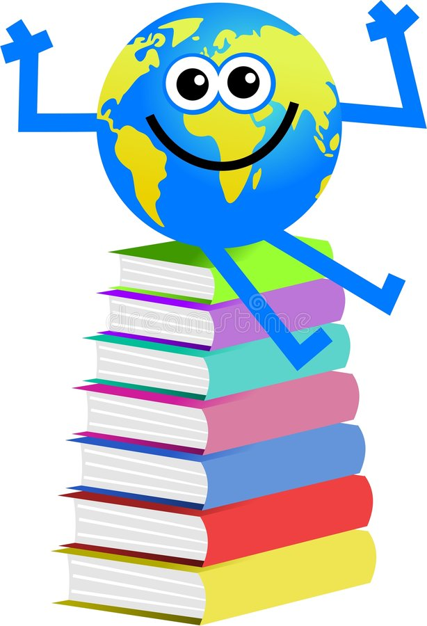 Book globe vector illustration