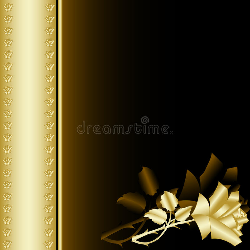 Download Book with gold rose 4 stock vector. Image of garden, beauty - 19506664