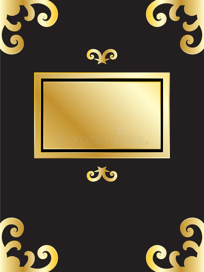 Download Book with golden frame stock vector. Illustration of curve - 4269002