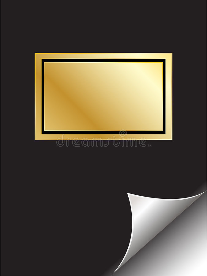 Download Book With Golden Frame And Pag Stock Vector - Image: 4151458