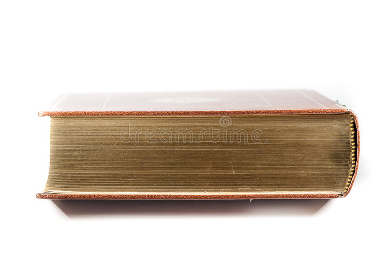 Book with Golden pages. On a white background stock photography
