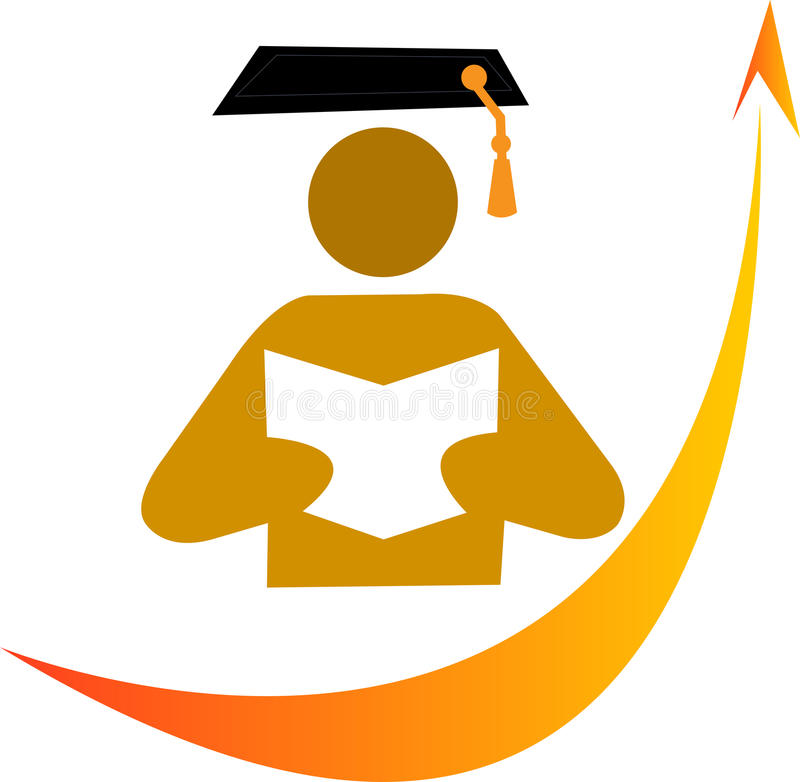 Book graduation stock illustration