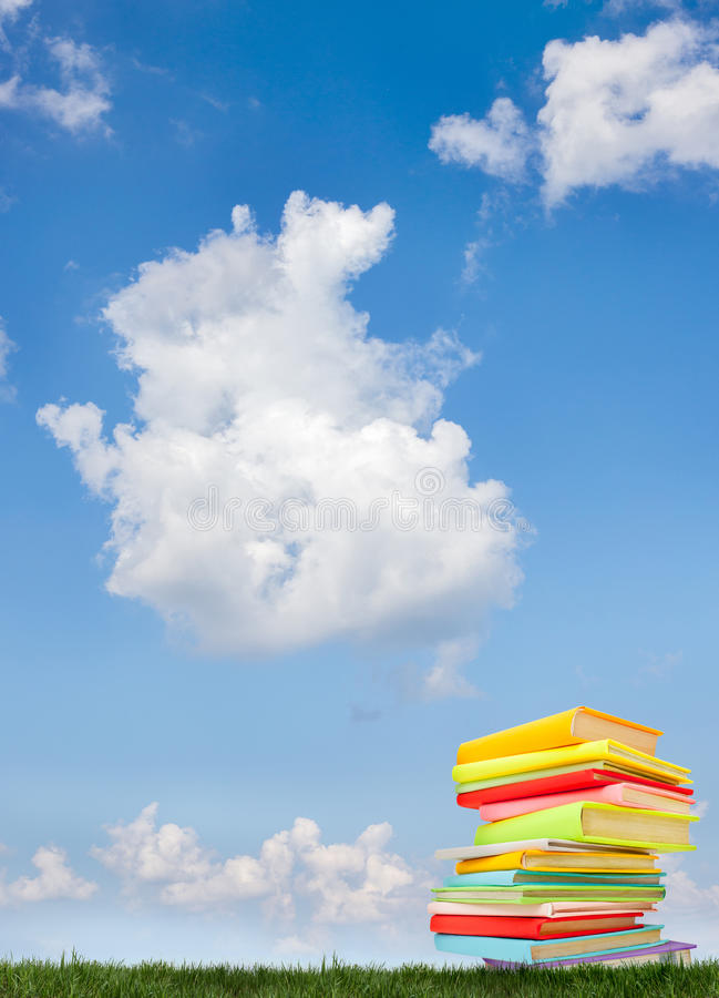 Download Book on the grass stock photo. Image of reading, education - 38698052