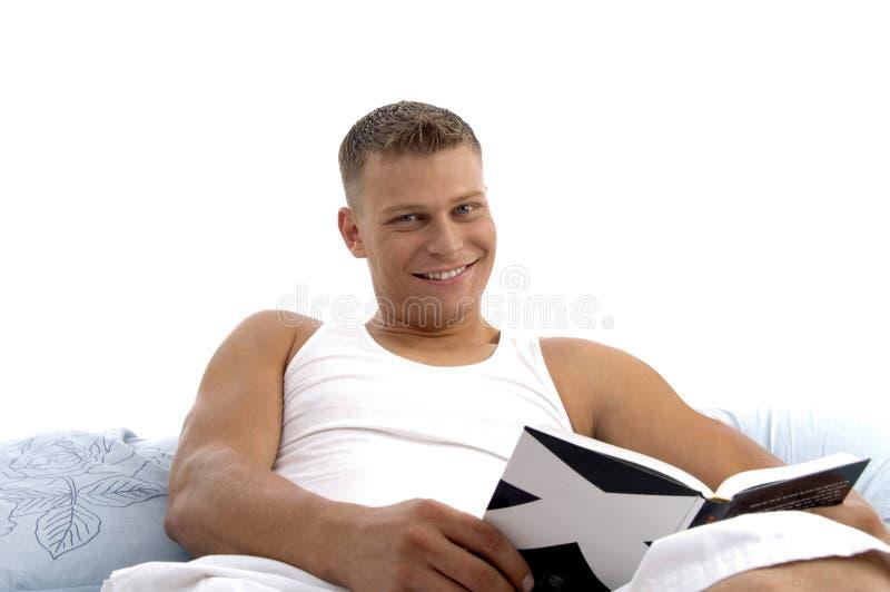 book great interest male reading smart στοκ φωτογραφία με δικαίωμα ελεύθερης χρήσης