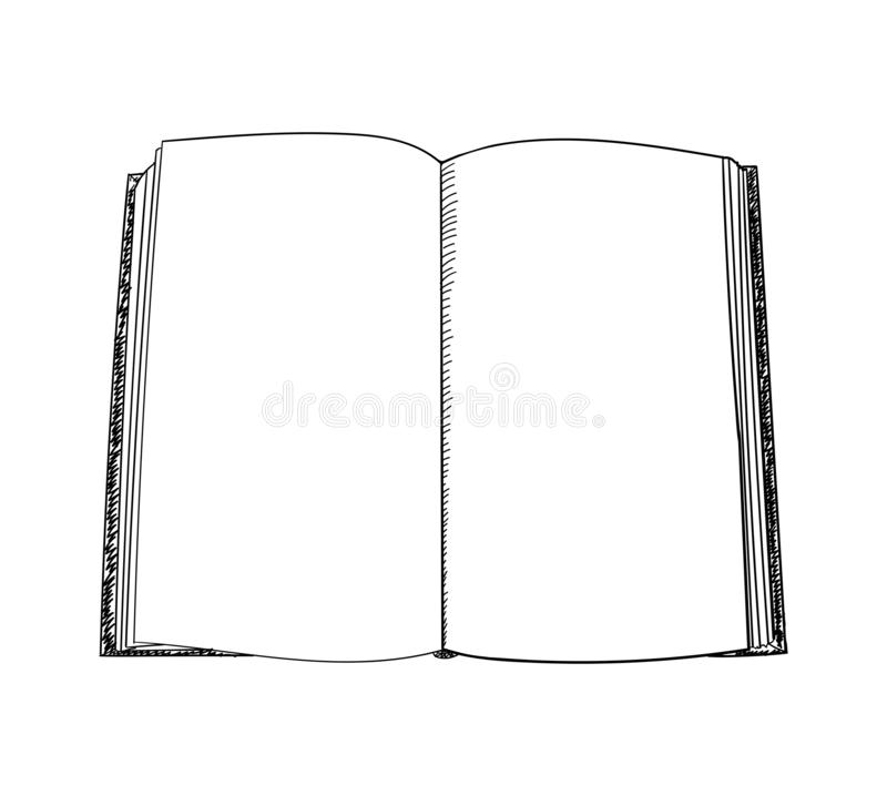 Free Book Hand Drawn Sketch. Vector Illustration. Stock Image - 141398521