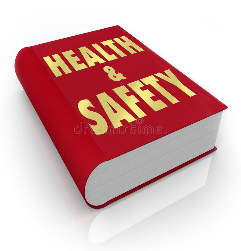 Book of Health and Safety Rules Regulations stock illustration