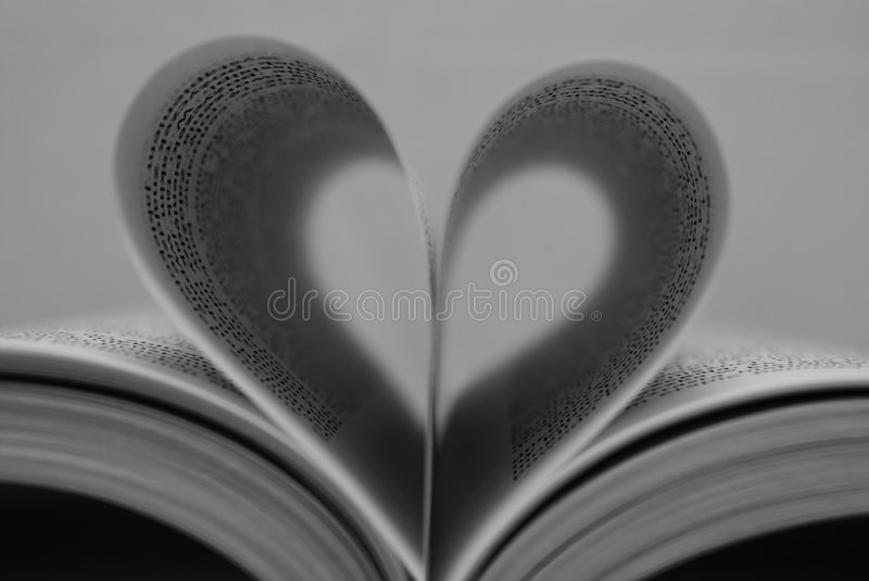 Book heart stock photography
