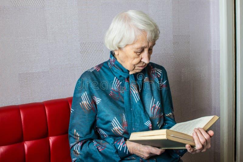 book home reading senior woman στοκ εικόνα