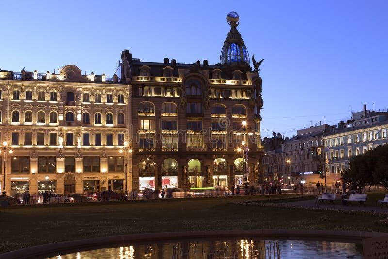 Book house of Zinger on Nevsky prospect royalty free stock images