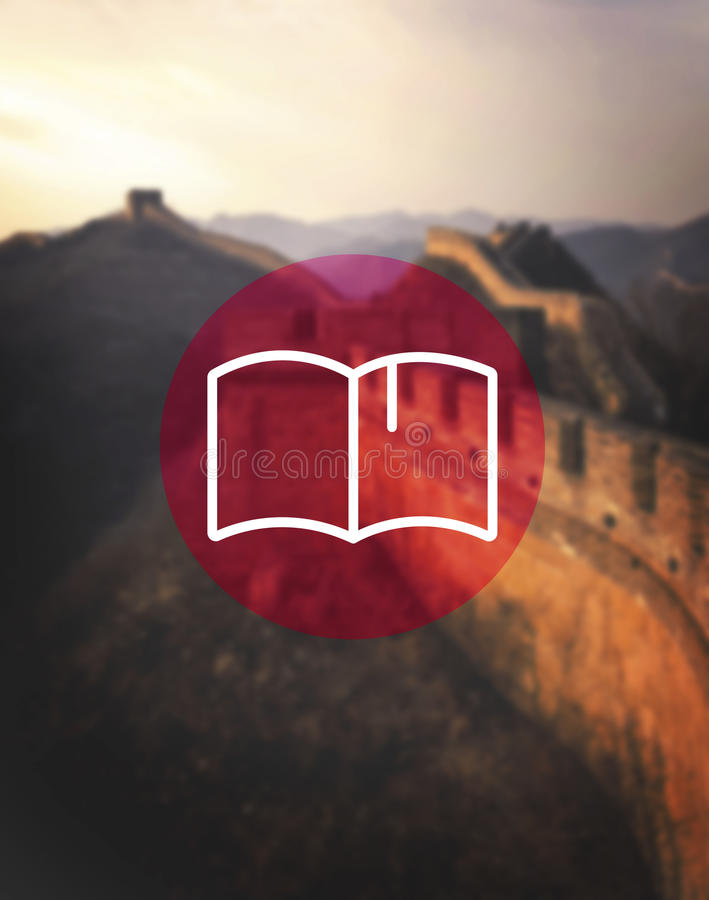Book Icon Library Reading Dictionary Concept royalty free stock image