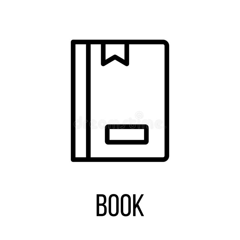 book icon or logo in modern line style  stock vector