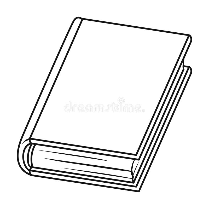 Book icon in outline style isolated on white background. Books symbol stock vector illustration. Book icon in outline design isolated on white background. Books vector illustration