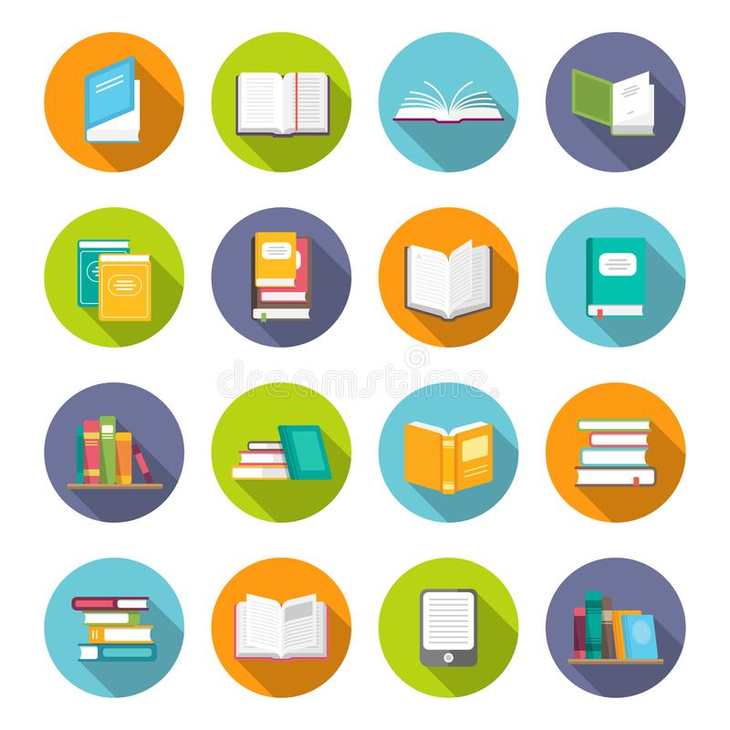 Book icon set royalty free illustration