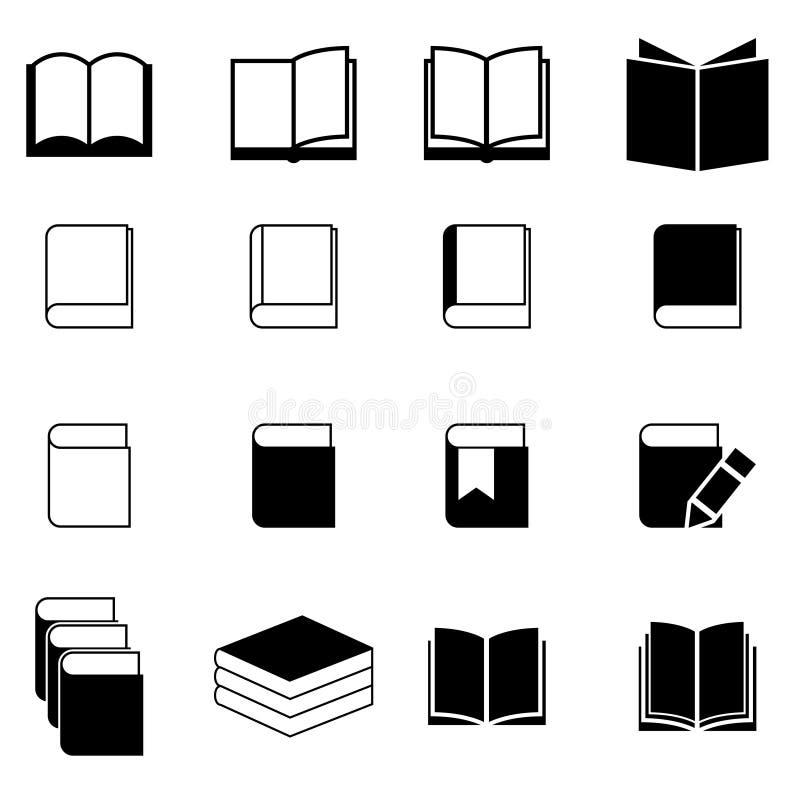 Book icon set stock photo