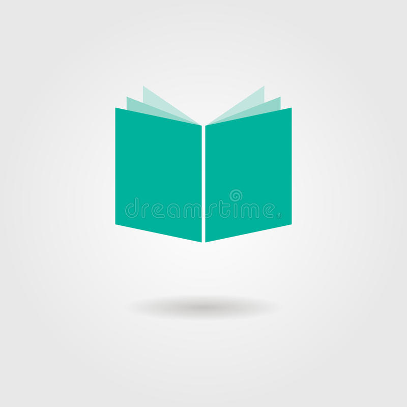 Book icon with shadow stock illustration