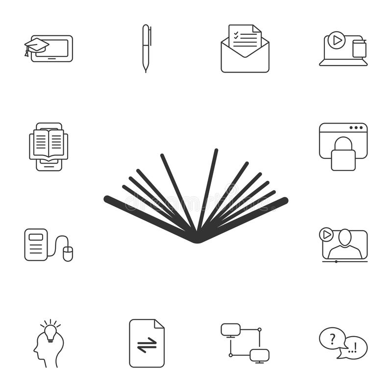 Book icon. Simple element illustration. Book symbol design from Ecology collection set. Can be used for web and mobile. On white background vector illustration