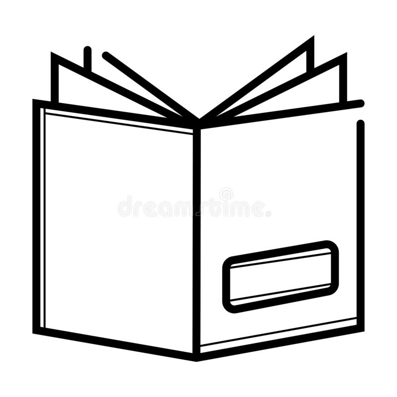 Book icon vector stock illustration