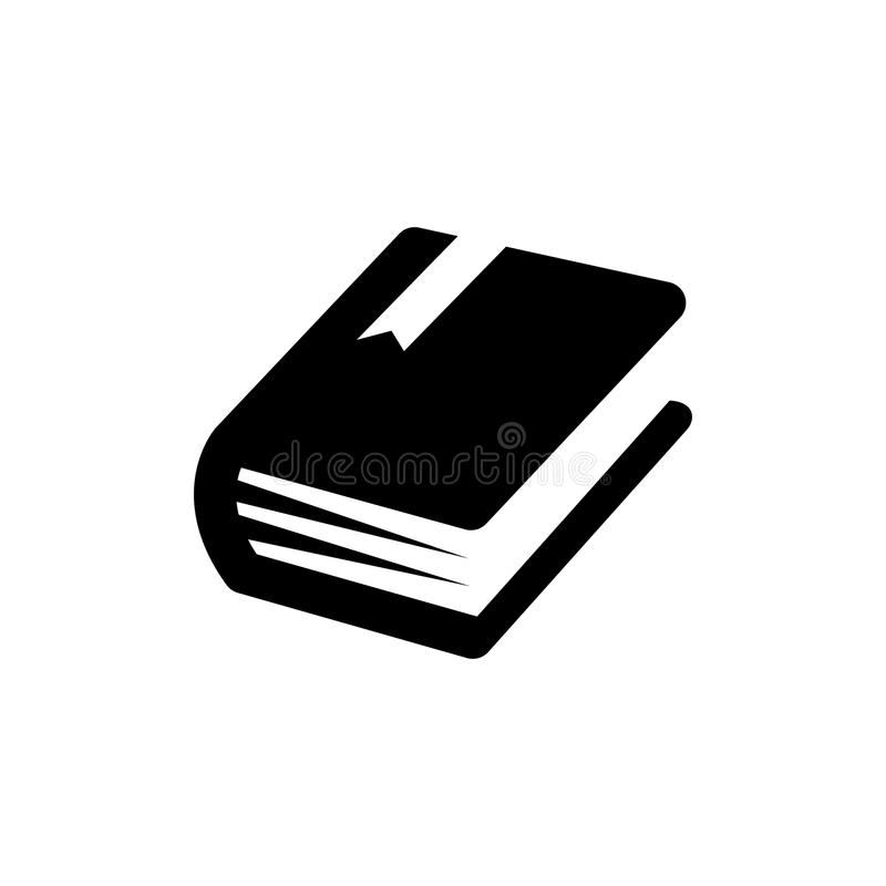 Book icon. Vector flat symbol. stock illustration