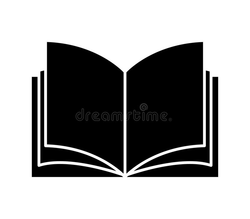 Book icon on. White background royalty free illustration
