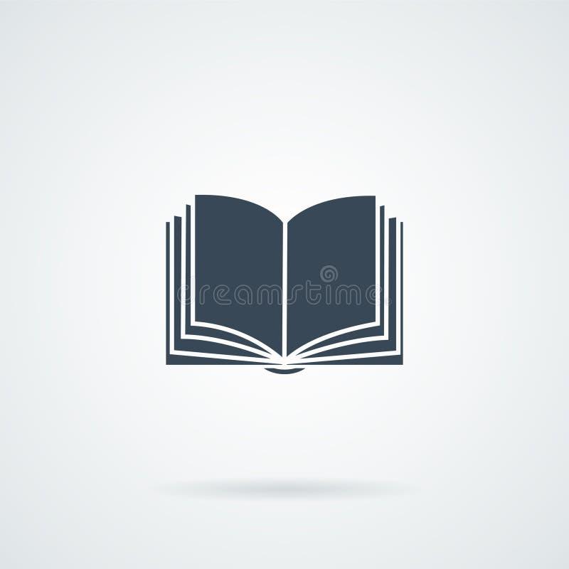 Book icon on white bockground stock illustration