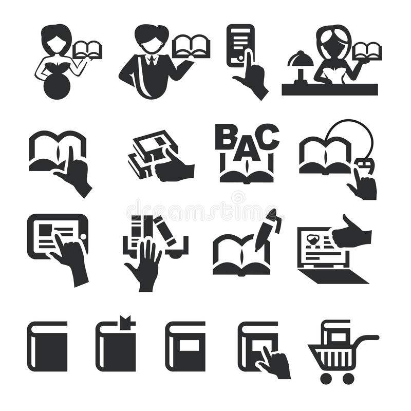 Download Book icons stock vector. Illustration of interface, internet - 32316069