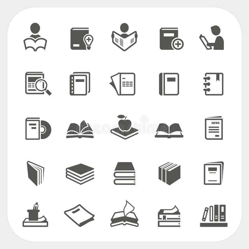 Free Book Icons Set Stock Photography - 40831262