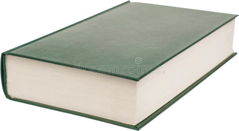 Book Isolated. Modern Book With Blank Green Cover Isolated On White royalty free stock photography