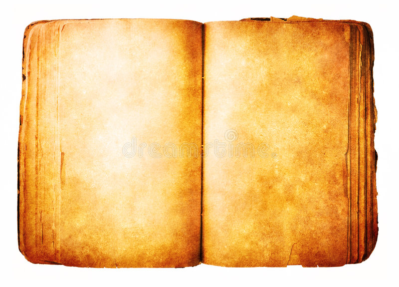 Book isolated on white royalty free stock photos