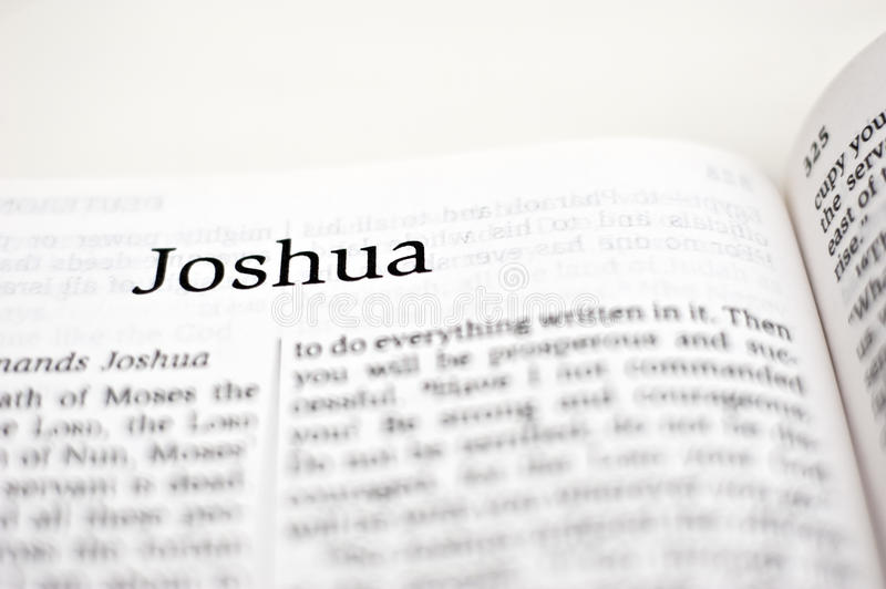Book of Joshua. One of the 66 books in the Bible royalty free stock photography