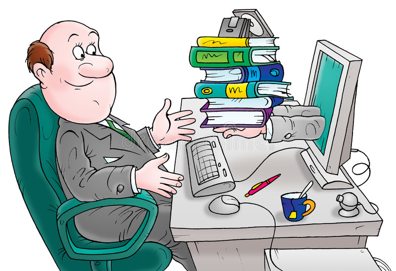Book keeper. This image is a high resolution illustration for your design royalty free illustration