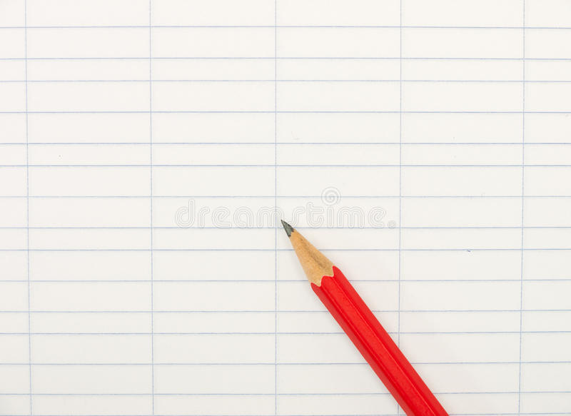 Book-keeping paper with pencil - background