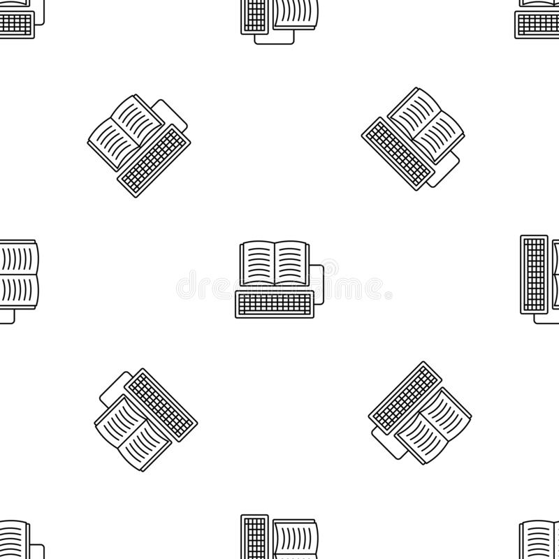 Book keyboard writing pattern seamless vector. Repeat geometric for any web design vector illustration