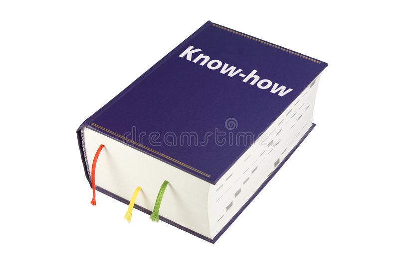 Book Know-how. Blue Book with Titel Know-how stock photos