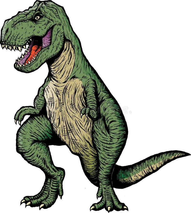book komisk rex t vektor illustrationer